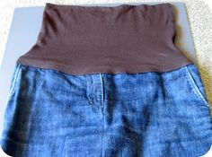 0d84c5fa4a12d homemade by jill: Refashioned Jeans to Maternity Skirt Tutorial Sewing  Classes For Kids, Recycle