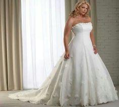 Full Figured Wedding Dress Plain Plus Dresses Figure