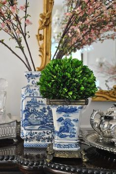 Blooming Branches and chinoiserie vases