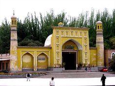 مسجد كاه، كاشغر، شينجيانغ، الصين.  Ied Kah Masjid, Kashgar, Xinjiang, China.