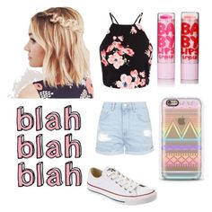 """""""Untitled #206"""" by averyr2005 ❤ liked on Polyvore featuring Topshop, Converse and Cotton Candy"""