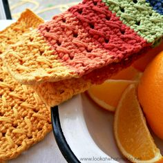 Cable Stitch Dishcloth { 2 Free Patterns} free crochet patterns  Photo