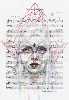 Queen of Diamonds on Sheet Music by agnes-cecile on DeviantArt