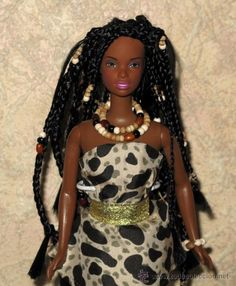 Barbie costume Bold with Africa