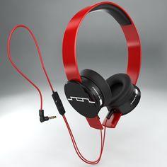 4085d3f9d80 headphones sol republic red 3d model Beats Headphones, Over Ear Headphones,  Headset, Sole