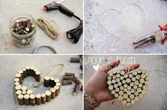 tutorial cuore shabby di legno