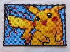 Pikachu Pokemon perler beads by GeekofMine