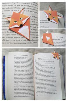 #origami fox book marker