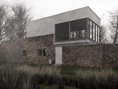 Alison & Peter Smithson | Upper Lawn Pavillion |  architecturally modern with aged elements & surfaces.