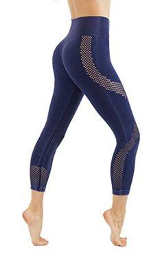 c42d977152644 CodeFit Yoga Power Flex DryFit Latest Fade Dye Active Capri With Mesh  Compression Pants Workout Leggings