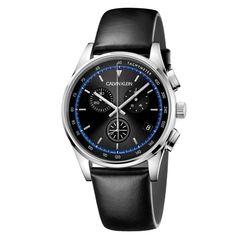 Ανδρικό quartz ελβετικό ρολόι CALVIN KLEIN KAM271C1 Completion με χρονογράφο, ταχύμετρο, μαύρο καντράν και λουρί | Ρολόγια CK ΤΣΑΛΔΑΡΗΣ στο Χαλάνδρι #Calvin #Klein #Completion #tsaldaris
