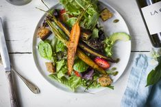 Spiced Carrot Salad with Charred Orange Vinaigrette