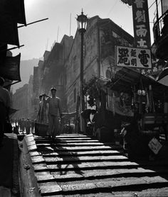 Hong Kong Street Photography from Fan Ho Fan Ho, Hong Kong, City Photography, Fine Art Photography, Shanghai, Fan Picture, Urban Life, Old Pictures, Black And White Photography