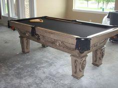 Updated Pool Table Makeover - Remodelaholic   Remodelaholic, faux italian slate