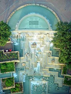 Water Gardens at the base of the Tower of the Americas, San Antonio, Texas, taken from the observation deck [5-11-13]