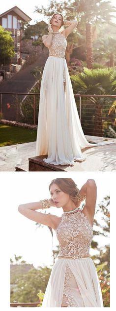 fashion lace a-line/princess long chiffon homecoming dress