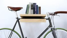 ideas bike storage apartment bookshelves for 2019 Apartment Bookshelves, Bike Storage Apartment, Bike Holder, Bike Rack, Bicycle Hanger, Bike Storage Solutions, Bike Shelf, Rack Shelf, Design Minimalista