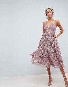 ASOS | ASOS Lace Cami Midi Prom Dress