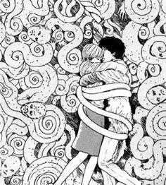 Uzumaki by Junji Ito Junji Ito, Japanese Horror, Japanese Art, Arte Horror, Horror Art, Dibujos Dark, Ero Guro, Arte Cyberpunk, Chef D Oeuvre