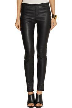 Helmut LangStretch-leather leggingsfront
