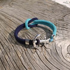 Two-coloured Square Knot Stainless Steel Anchor Bracelet by Maris Sal, $42.00