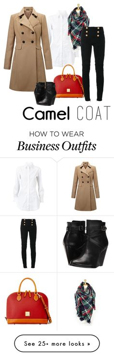 """wear to work"" by twintnmom-1 on Polyvore featuring Alaïa, Miss Selfridge, Dooney & Bourke, Balmain and Frye"