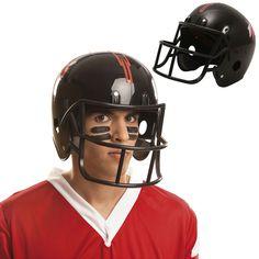 Casco Fútbol Americano Negro #sombrerosdisfraz #accesoriosdisfraz #accesoriosphotocall