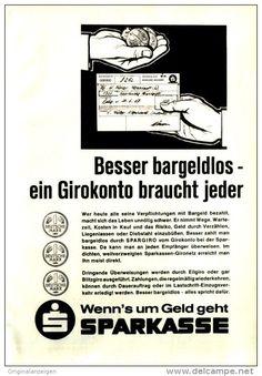 Original-Werbung/ Anzeige 1967 - SPARKASSE - ca. 120 x 170 mm