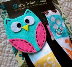 Baby Girl Pacifier Clip Owl Pacifier Clip Baby by babywhatknots, $8.75