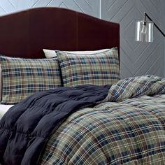 The Eddie Bauer Rugged Plaid Comforter Set is characterized by its charming look, and will make any bedroom look inviting. This comforter set is soft, war. Cotton Comforters, Comforter Sets, Comforters, Sheets, Comforters Cozy, Bed, Bedding Sets, Plaid Comforter, Twin Comforter Sets