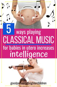 Did you know that playing classical music for babies in the womb will increase their speech and language skills, memory skills & more? Here are 5 suggestions, & steps to playing music for babies in the womb. Music Activities For Kids, Preschool Special Education, Brain Activities, Music For Kids, Infant Activities, Music Education, Music Teachers, Gifted Education, Health Education