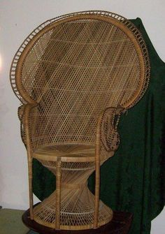 Wicker Chair- Old School. We had one that was passed down to every family member who was pregnant. Old days of baby showers