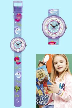 UNELMA (ZFBNP146) has a design inspired by the world of magical tales and fables. A perfect gift for a child's birthday, fairytale kids will love to get this princess wrist watch. The lovely pink, blue and violet colours make it an eye-catching accessory for any young adventurer, and it's also built to be safe and practical, with BPA-free plastic and a machine washable strap. Adventurer, Fairytale, Pink Blue, Swatch, Plastic, Colours, Eye, Inspired, Princess