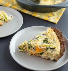 Courtesy of Healthy Nibbles and Bits, this gluten-free quiche is made with a nutty almond meal crust. This flavorful quiche is filled colorful strips of zucchini noodles and orange bell pepper and ...