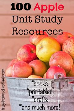 TONS of apple unit study resources! printables, activities, and more