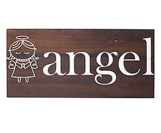 PLACA DECORATIVA ANGEL UNION - 25,5X12CM