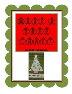 "Make this fun Christmas tree with your students. Use the shapes (5 triangles, star, trapezoid, and 7 circles) to make and decorate your tree. Use as a mini shapes lesson and/or adjective lesson. Sentence frame: ""My tree is ___.""This is a FREEBIE!!  Don't forget to click the LITTLE RED STAR to follow me :) Thanks for your support!"