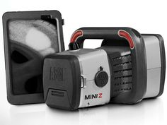 AS&E Mini Z ; After the Boston Marathon bombing, AS&E accelerated development of a handheld scanner that can peer through tires, walls, and backpacks to detect contraband. Unlike traditional x-rays, the backscatter technology detects radiation that bounces off of materials such as drugs and explosives.