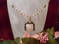 Rose Quartz Pendant on Pink Jade and Crystal by RomanticThoughts, $45.00