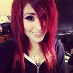 Scene hair<<< How do u do that? Like how do you get your bangs and hair like that? but I like how she doesn't look so um so dark but luv her hair Hairstyles With Bangs, Pretty Hairstyles, Scene Hairstyles, Scene Haircuts, Cosplay, Red Scene Hair, Scene Hair Bangs, Suicide Girls, Alternative Hair