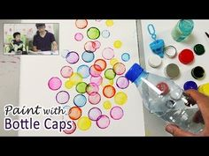 Bottle Cap Painting Technique for Beginners | Basic Easy Painting Idea - YouTube ~ BUBBLES !!! ...M