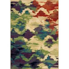 Orian Rugs Splash of Color Multi 5 ft. 3 in. x 7 ft. 6 in. Indoor Area Rug-318098 - The Home Depot