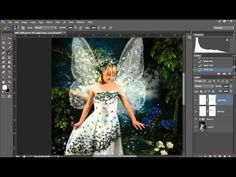 How to load and use fairy wing Photoshop brushes and png overlays - YouTube