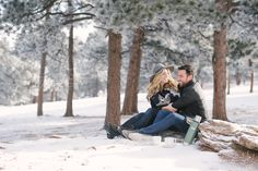 Winter Engagement Session Inspiration | Lookout Mountain | Golden Colorado | Snow | Destination Wedding Photographer Jordan Weiland
