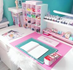 36 Ideas For Craft Room Decoration Ideas Desk Areas Study Room Decor, Cute Room Decor, Bedroom Decor, My Room, Girl Room, Craft Room Design, Craft Room Storage, Craft Desk, Craft Rooms