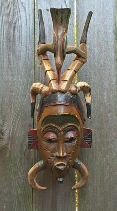 GURO,MASK,AFRICA,TRIBAL,ART ANTELOPE,WOOD,CARVING,passport Mask,