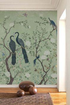 Edo Mural Design Wallpaper Panel - Mint Green | Rockett St George Rockett St George