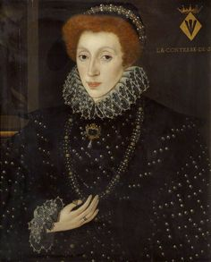 c.1575 Lady Frances Sidney (1531–1589), Countess of Sussex, Foundress of Sidney Sussex College  by George Gower (attributed to) Oil on panel, 66 x 53.6 cm  Collection: Sidney Sussex College, University of Cambridge