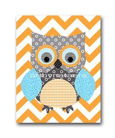 Owl decor Owl Nursery Baby Boy Nursery Decor Baby by artbynataera, $14.00