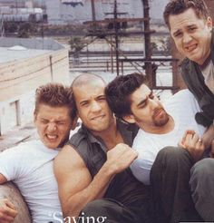 Barry Pepper , Vin Diesel , Adam Goldberg and Giovanni Ribisi.  Absolutely adore this pic. <3
